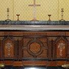 Inlaid communion table of 1876 given by R W Ketton- Cremer